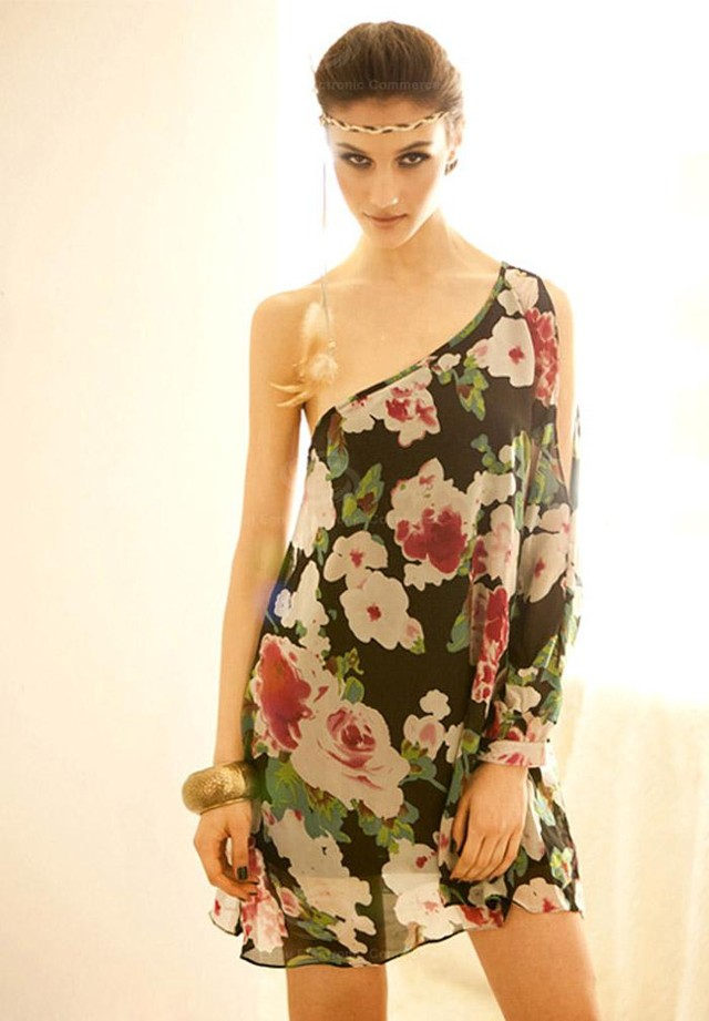 Floral Off Shoulder - USD 56
