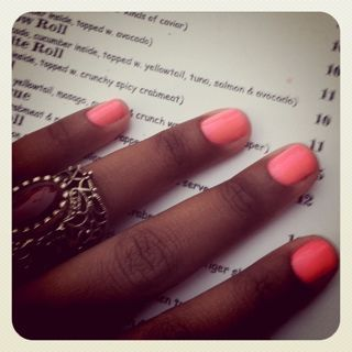 Fluoro Nails for NYFW