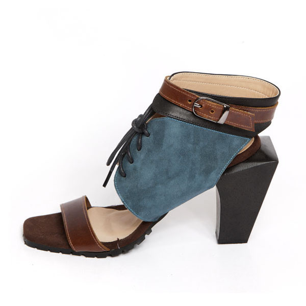 UNDERGROUND LOVE SANDALS TEAL - AUD 150