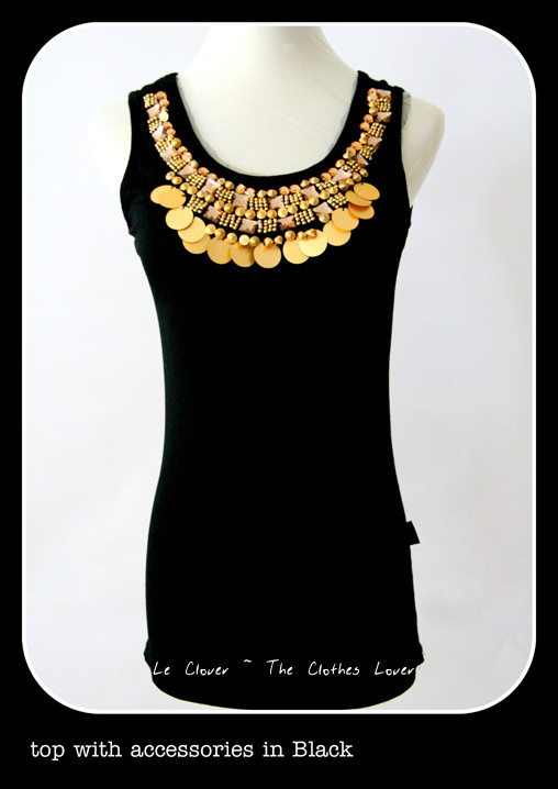 Top with accessories in Black - SGD 18.90