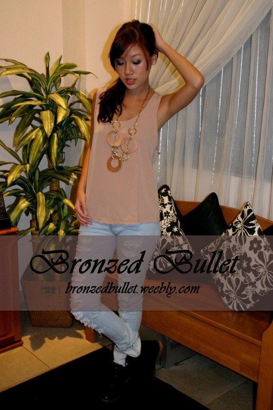 Gold Zip Tank - SGD 19