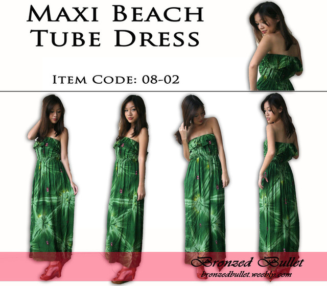 Maxi Beach Tube Dress - SGD 21