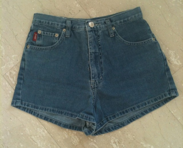 high waisted denim shorts - SGD SGD12