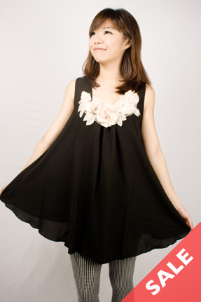 Vest with floral embellishments - SGD 7