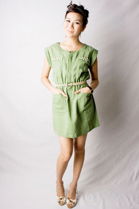 SALE ITEM // Boat Dress With Button Details  - SGD 45.50