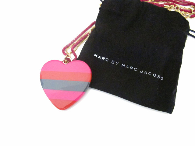 Marc by Marc Jacobs Stacked Heart Pendant - SGD 129