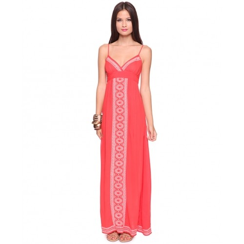 Embroidered Maxi Dress - SGD 77