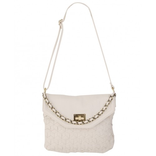 Large Woven Leatherette Handbag - SGD 78