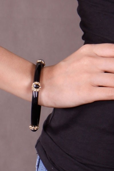 Balinese Bangle II - Black - SGD 24
