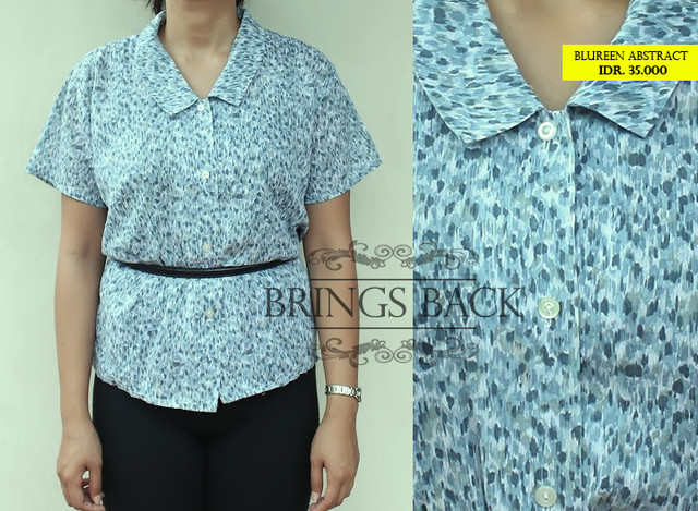Vintage Blureen Abstract Shirt  - IDR IDR. 35.000