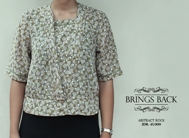 Brings Back Vintage Abstract Rock Shirt  - IDR IDR. 45.000