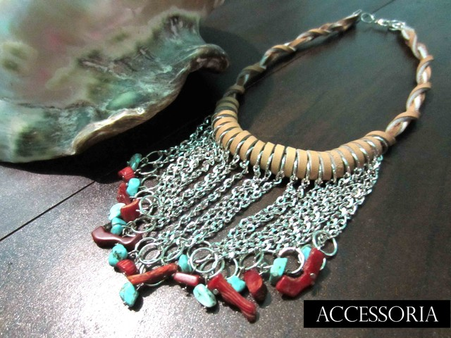 Anemone Semi Fringe Charm Necklace - Under The Sea - May 2012 (summer)  - IDR 249