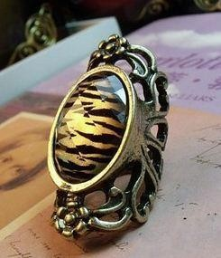 Leopard Stripes Oval Ring - MYR 7