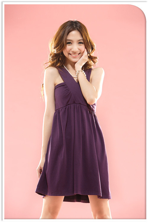 Dress purple X11030901  - SGD 28