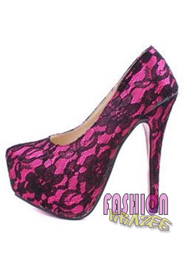 Guess inspired Geen4 Pumps with Lace Pattern High Heel (RM 75) - MYR 75