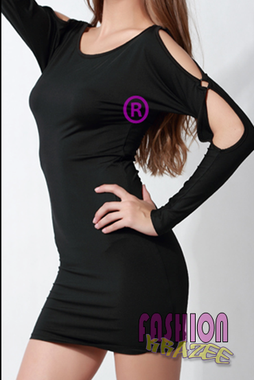 Cut-Out Long Sleeve Dress (RM 79) - MYR 79