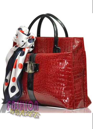 Crocodile Pattern Tote with Scarf (RM 79) - MYR 79