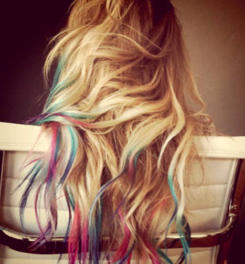 Rainbow colors for my hair