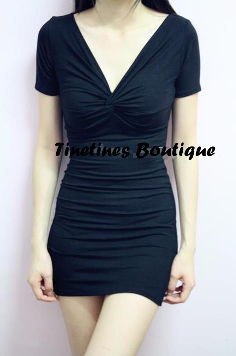 Item Number : CD06 Casuel Back U Dress (Black) - MYR Sale : RM45 1 pcs / RM120 for 3 pcs