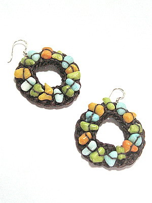 shell crochet earring - IDR 125000
