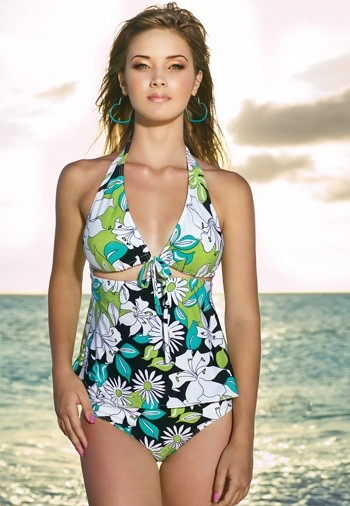 Floral Halter Tankini - SGD 165