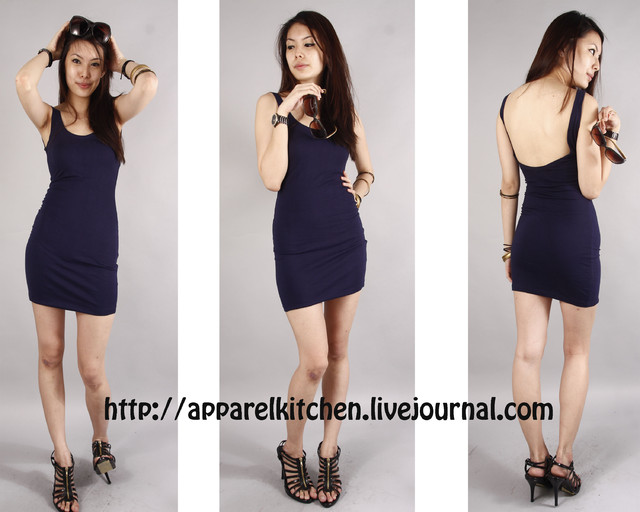 Low Back Tank In Navy - SGD 24