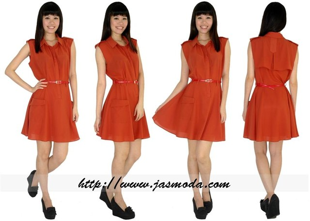 Concealed Flare Dress *LUXE Label - SGD 35.00