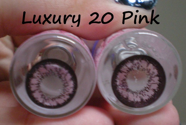 Luxury 20 Pink Cosmetic Lens 0 degree - SGD 15
