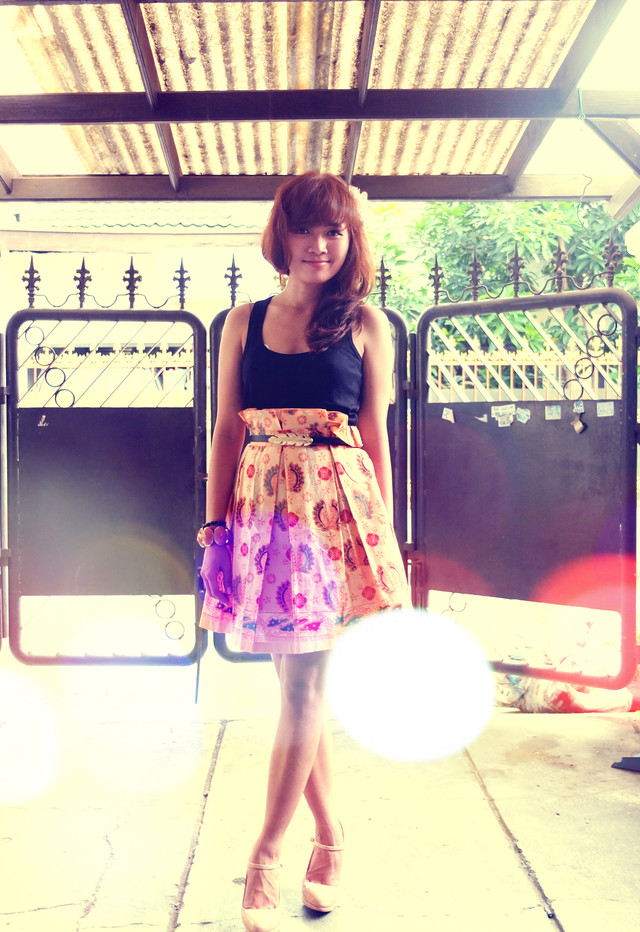 a batik skirt from my grandma