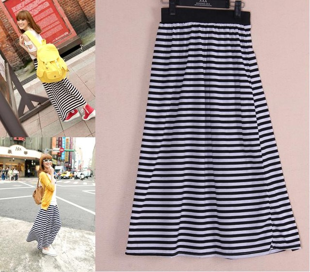 STRIPE LONG SKIRT - MYR 36.00