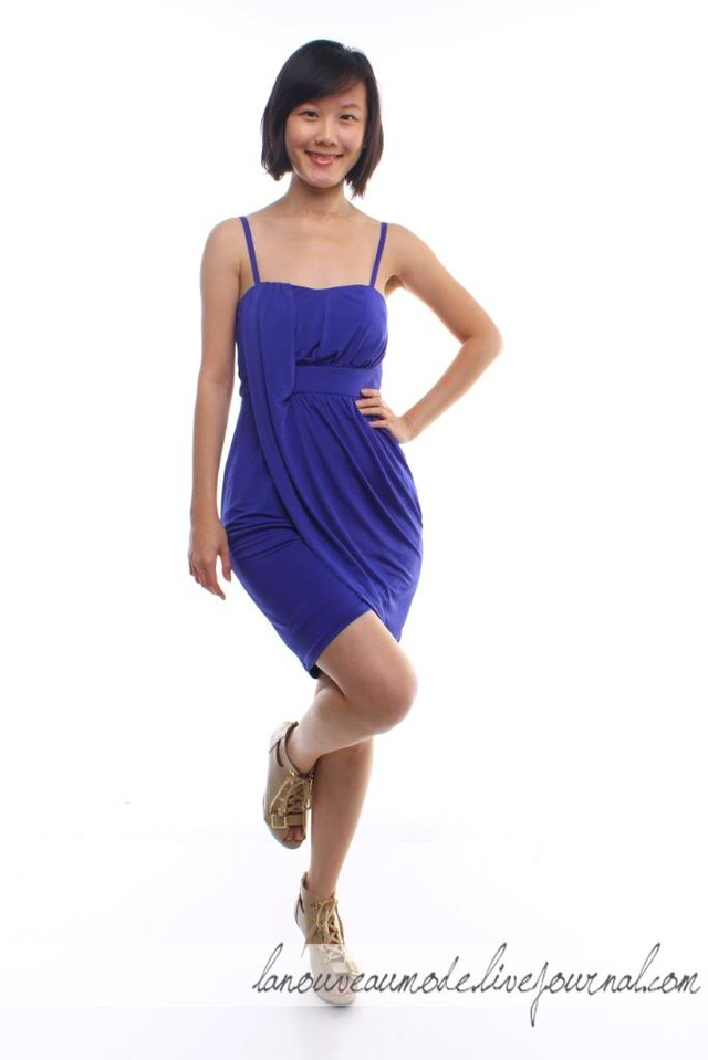 Fall in Love with Me Dress - Bold Indigo Blue - SGD SGD25.00