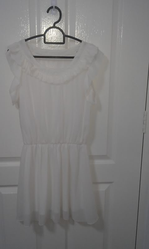 BNIB White Chiffon Dress! - SGD 10