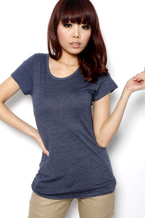 MDS Basic Comfy Tee in Dark Blue - SGD 19