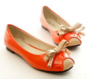 Bow Frindge Patent Leather Shoes AXX 019 - MYR 45