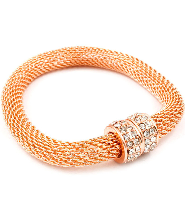 Rose Gold Cord bracelet - USD 15