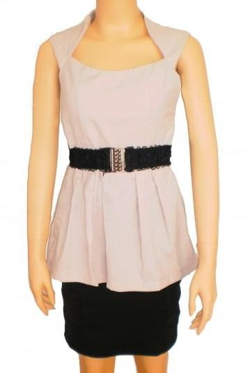 Princess Neckline Blouse  - SGD 19
