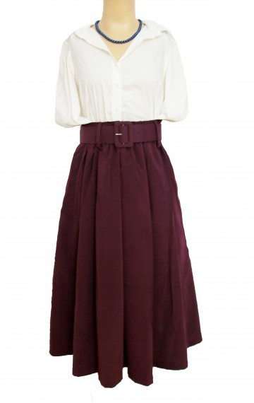 Grace Kelly Full Skirt – Royal Purple - SGD 24