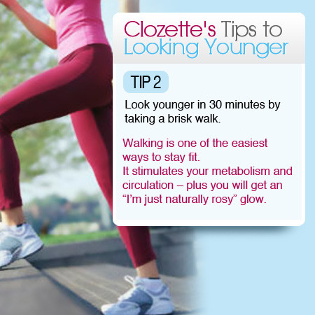 Clozette's Tip #2 to Looking Younger