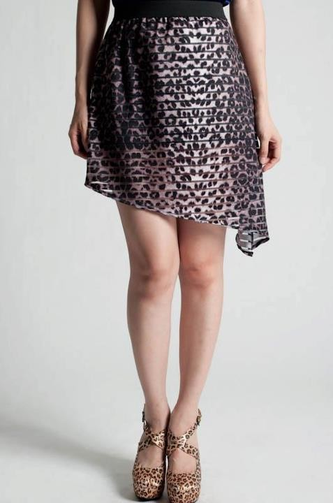 Shear Leopard Mini Skirt - MYR RM39
