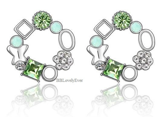 ♥ Green Austria Crystal ♥ - SGD 8.00