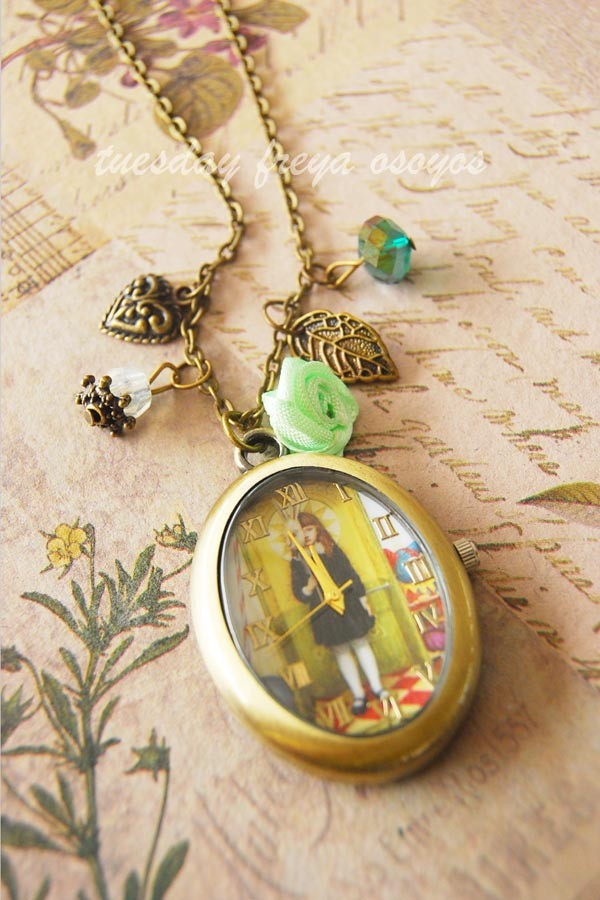 Wonderland Masquerade - a watch necklace   - USD 18