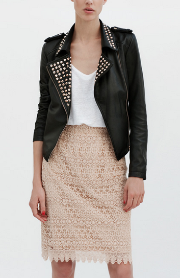 Leather on Lace