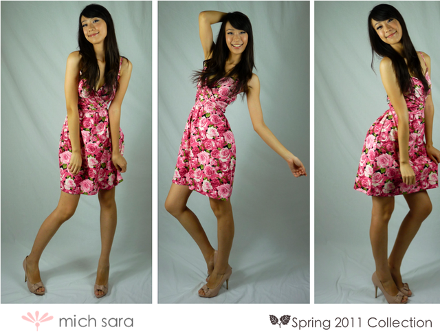 As lovely as a rose print dress in Pink - SGD 29
