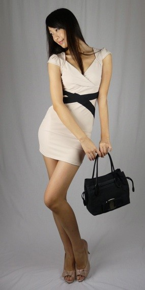 Chloe Shift Dress in Latte - SGD 29