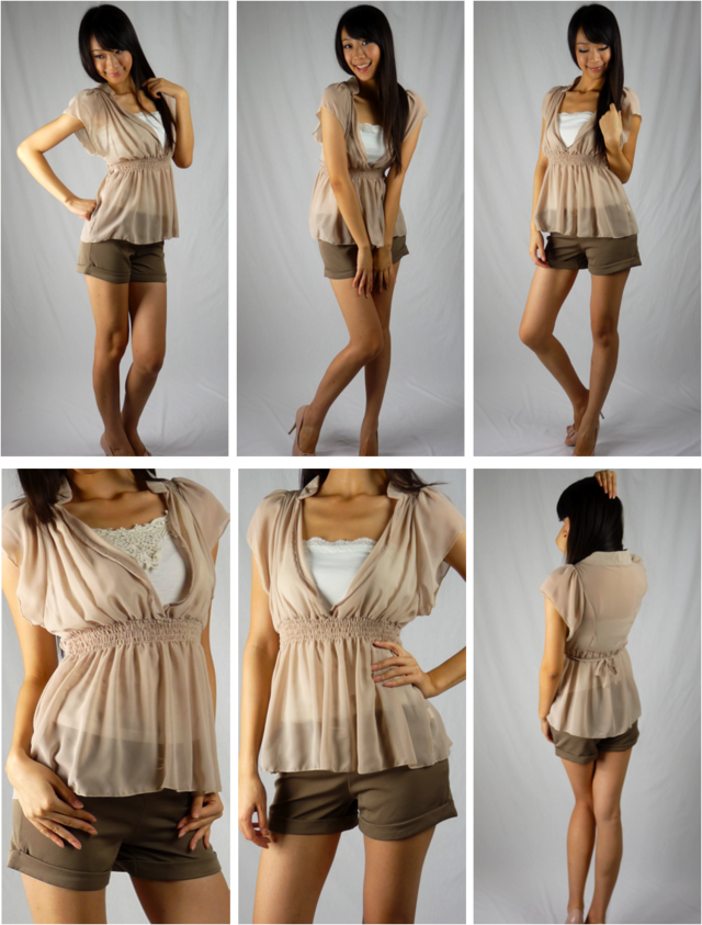 Bianca chiffon blouse (with embroidered camisole) - SGD 26
