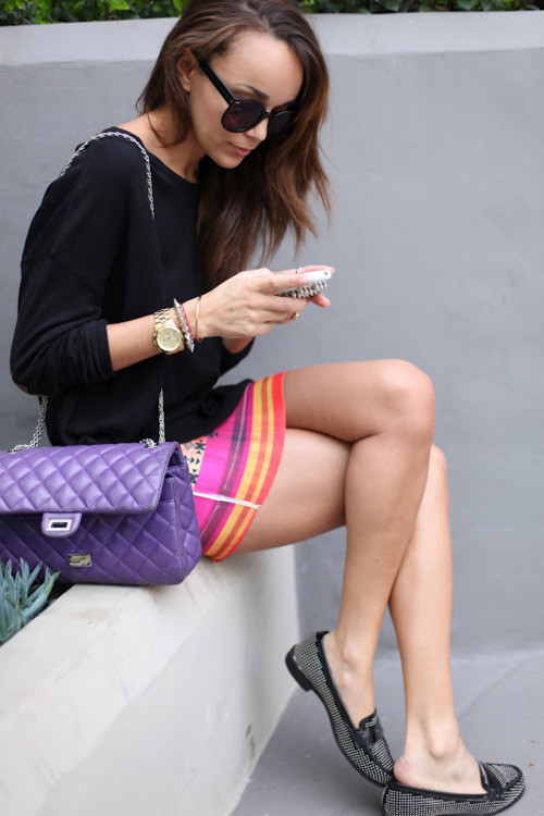 Look at this purple chanel bag