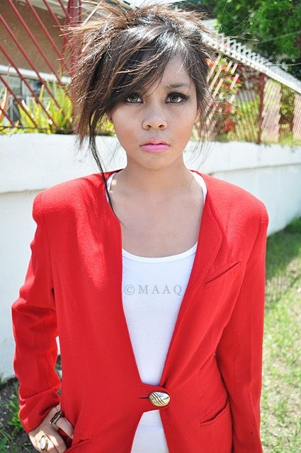 A vintage red blazer with pads. :) - PHP 450