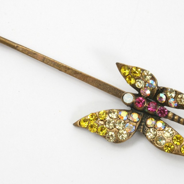$13.90 - Korean Hair Clip Crystal Butterfly Design - SGD $13.90