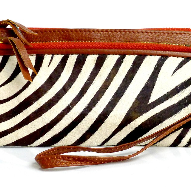 $21.90 - Leather Wallet- Zebra Prints - SGD $21.90