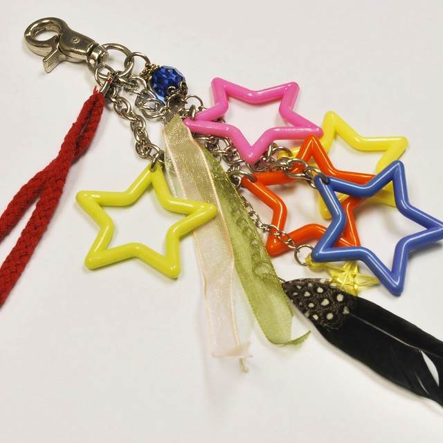 $7.90 - Trendy Star Design Bag Charm - SGD $7.90